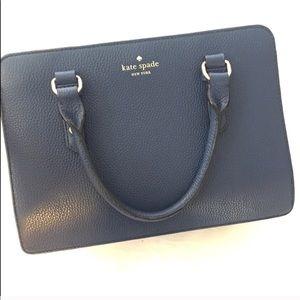 Kate Spade Bags Navy Blue Satchel Bag Purse Poshmark